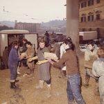 Trasferimento di libri alluvionati nella BNCF