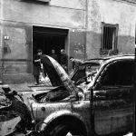 Auto distrutta. I cittadini e l'alluvione. Firenze 1966