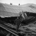 Capannone distrutto. Firenze 1966