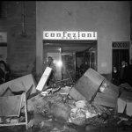 Danni alle botteghe e ai negozi. Firenze 1966