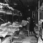 Libri alluvionati nei magazzini della BNCF