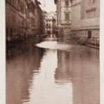 Via Magliabechi. Alluvione Firenze 1966
