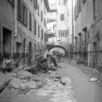 Danni alle strade. Alluvione Firenze 1966