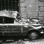 Auto distrutta. I Danni dell'alluvione. Firenze 1966