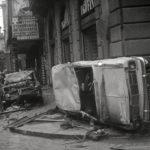 Auto distrutte. I danni dell'alluvione. Firenze 1966