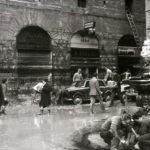 Danni nelle piazze e nelle strade. Firenze 1966