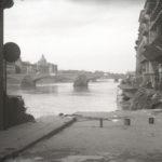 Cedimento del lungarno. Alluvione Firenze 1966